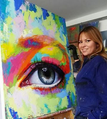 cuadros modernos de ojos