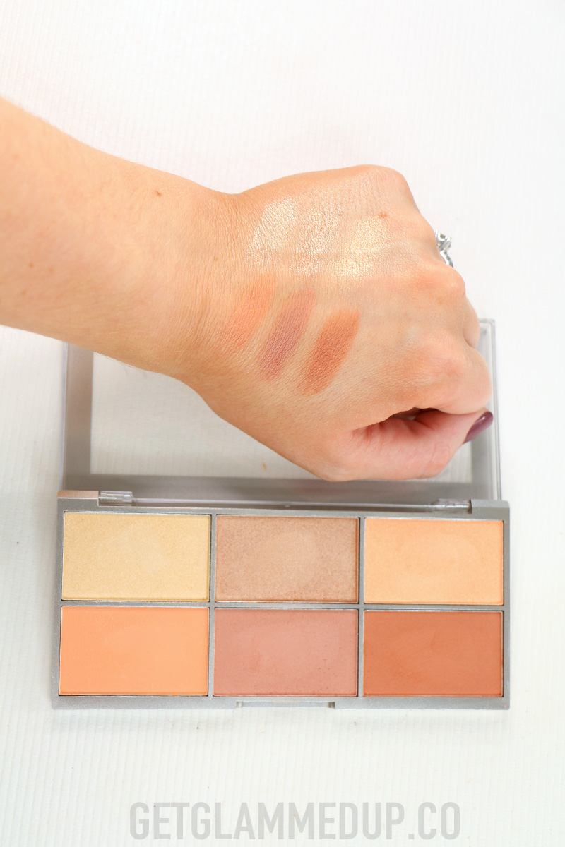 e.l.f. Modern Metals Blush & Highlight Palette Swatches