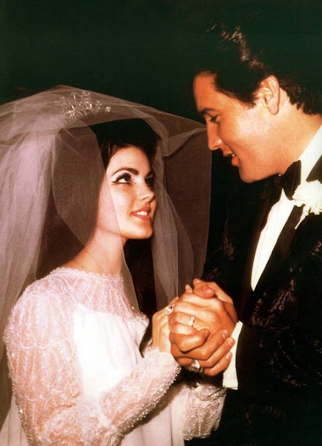 45 Candid Photographs of Elvis and Priscilla Presley on Their Wedding Day on May 1 1967