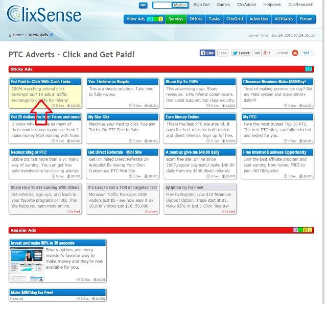 4° imagem com tutorial de como se cadastrar no clixsense