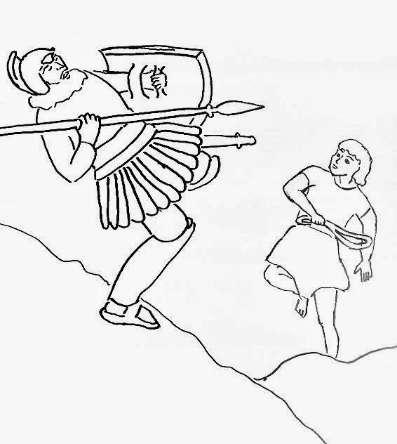 El Renuevo De Jehova: David y Goliat - Imagenes para colorear ...