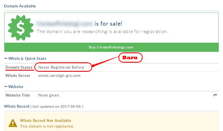 Cara mengecek domain website,sinar blogging