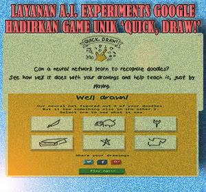 Melalui Layanan Google A.I. Experimets, Google Hadirkan Game Unik 'Quick, Draw!'