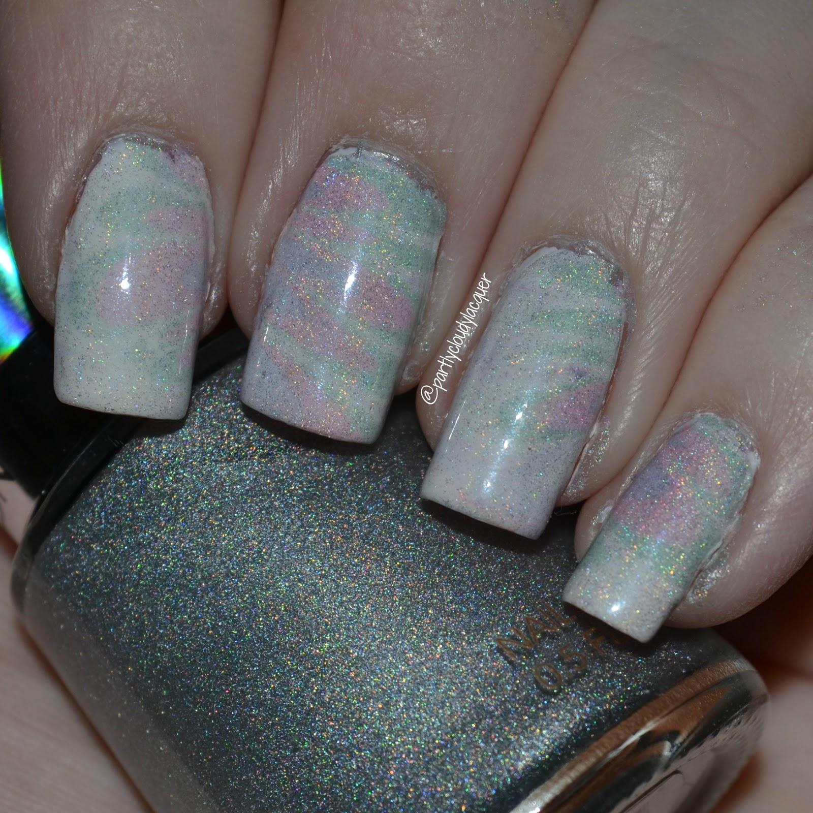 Pastel Holographic Watermarble - Revlon HoloChrome Polishes | Partly ...
