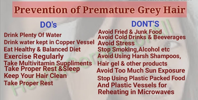 Premature Grey Hair remedies/treatment