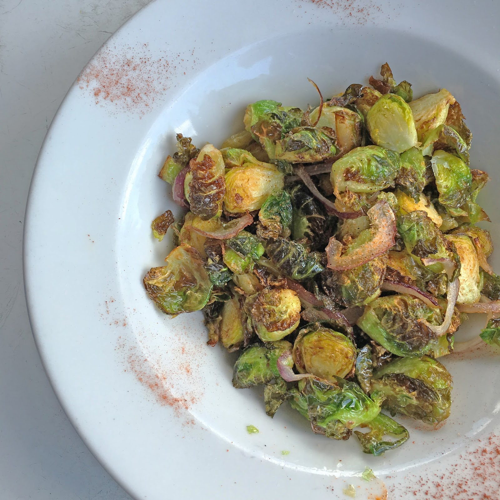 crispy brussels at Dry Creek Cafe, a restaurant/bar in Houston, Texas