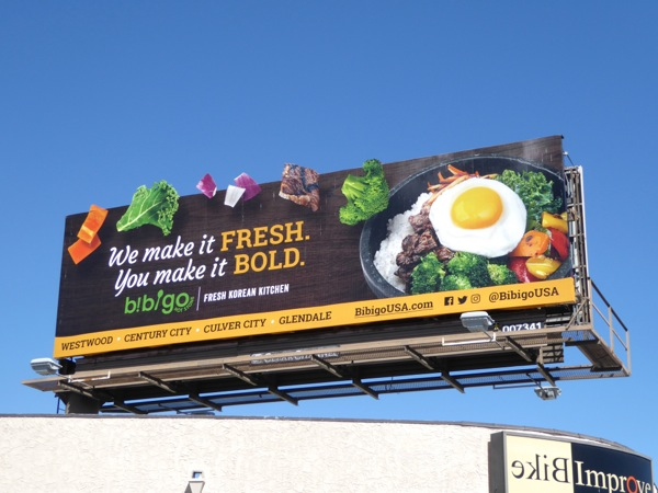 Bibigo Fresh Korean Kitchen billboard