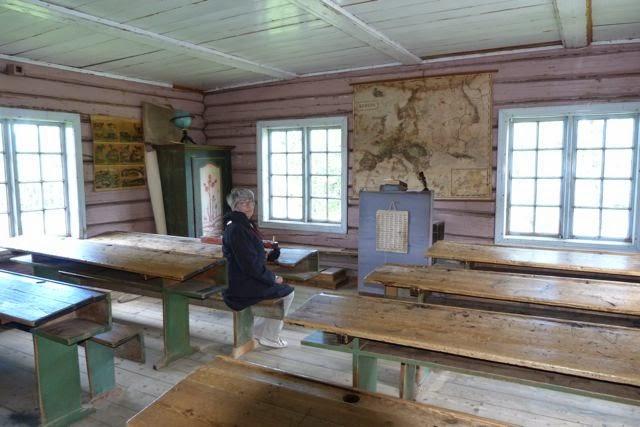 Noorwegen Lillehammer openluchtmuseum schooltje