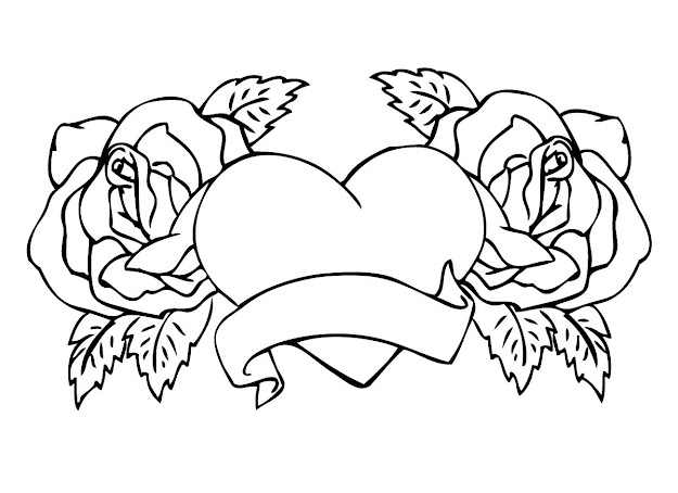 Beautiful Rose Coloring Pages With Rose Coloring Pages For Kids Printable
