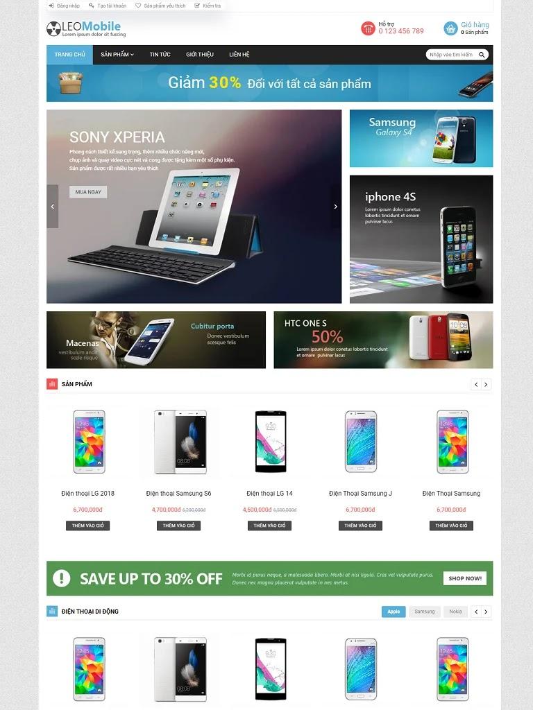 Template blogspot bán điện thoại mobile chuẩn seo giá rẻ