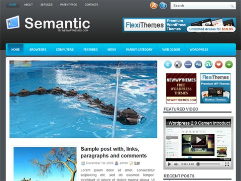 Semantic Free WordPress Theme
