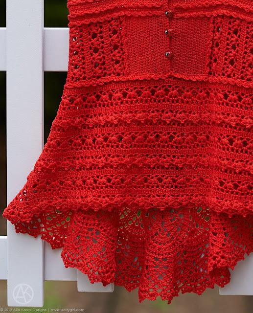 darmowe wzory sukieneczek szydelkiem