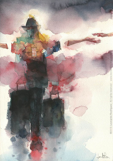 Watercolor art Leonardo Rodríguez
