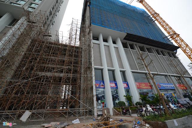 Điện máy Trần Anh thuê lại tầng 1 toà CT2 Eco green city mặc dù dự án chưa hoàn thiện xong