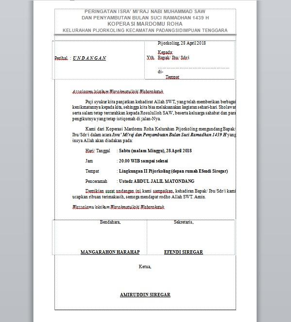 Download Lagu Asian Games 2018 Janger Persahabatan: Download Format Surat Undangan Isra' Mi'raj