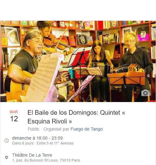 El Baile de los Domingos: Quintet « Esquina Rivoli »