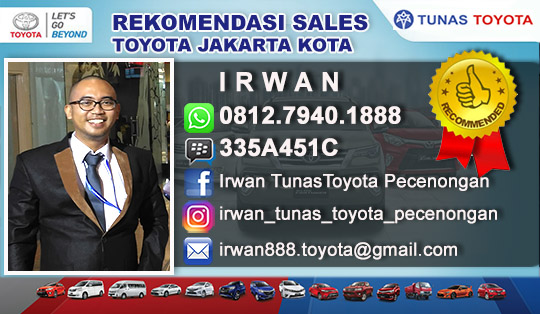 Rekomemendasi Sales Toyota Jakarta Kota