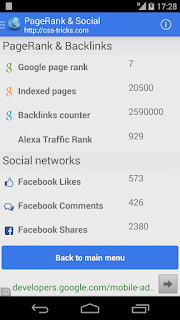 SEO pagerank Android