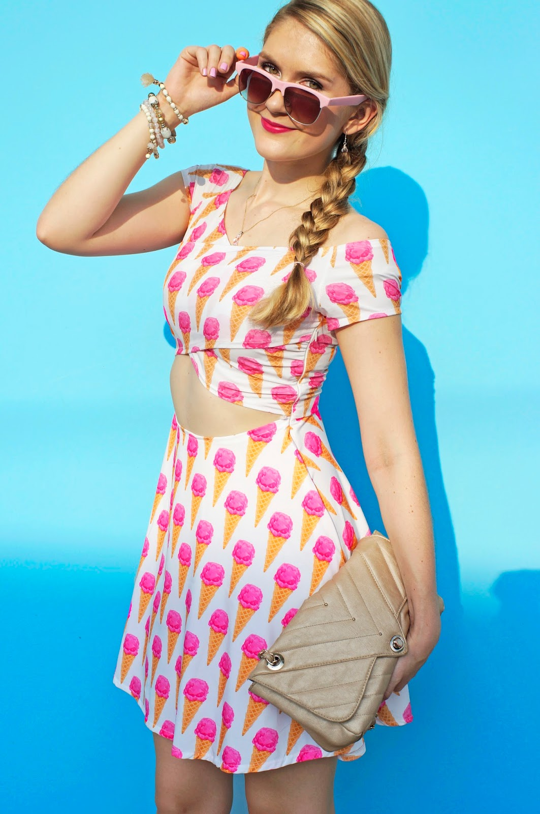 Adorable Ice cream printed dress for Summer!
