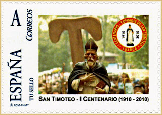 Sello personalizado dedicado al centenario de las fiestas de San Timoteo de Luarca