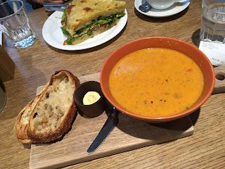 Tomato and lentil soup - delicious!
