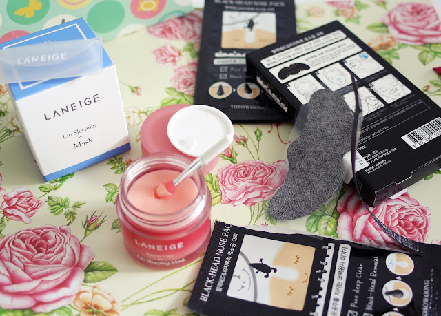 YesStyle, Korean Beauty Box, laneige, mask, sleeping mask, lips mask, lip, lips, nose strip, nose, blackheads, toosoowong