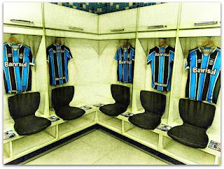 Área dos Jogadores no Vestiário da Arena do Grêmio