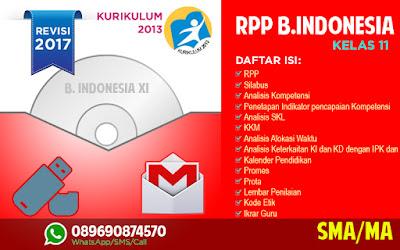 Sedia RPP Bahasa Indonesia Kelas 11 Kurikulum 2013 Revisi 2017