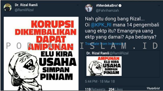 Geger Pengembalian Uang Korupsi E-KTP, Rizal Ramli: Elu Kira Usaha Simpan Pinjam?