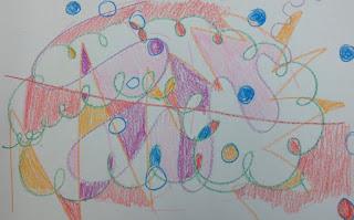 kindergarten drawing of lines