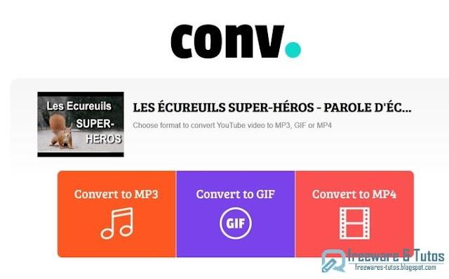 2 outils en ligne pour convertir les vidéos de Youtube en MP3, MP4 ou GIF
