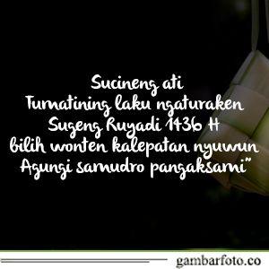 Ucapan Selamat Idul Fitri Bahasa Jawa Halus