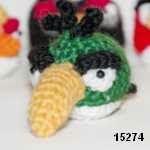patron gratis pajaro verde angry bird amigurumi, free amiguru pattern green bird angry bird