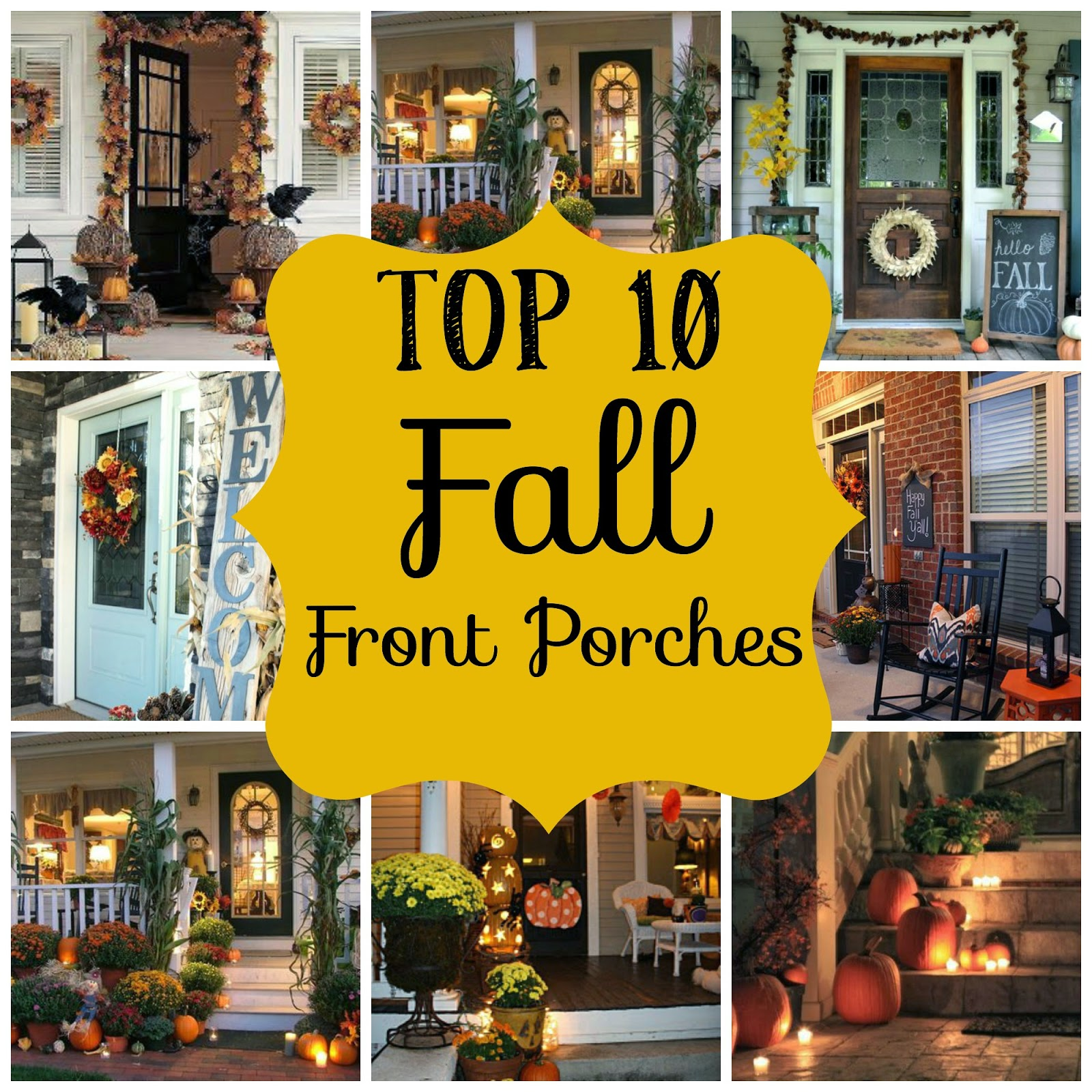 Top 10 Fall Front Porches