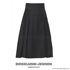 Queen Letizia wore BOGELUND JENSEN Fold Skirt