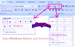 Cara Membuat Bullets and Numbering - BeHangat.net