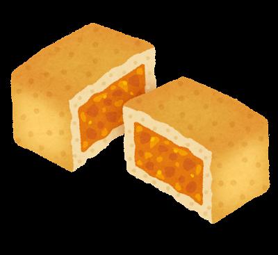 パイナップルケーキ・鳳梨酥のイラスト