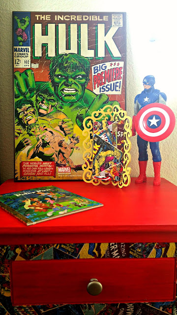 kid's room superhero theme