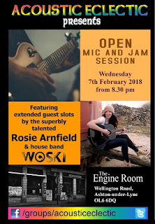 Acoustic Eclectic at The Engine Room - 7th Feb