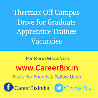 Thermax Off Campus Drive for Graduate Apprentice Trainee Vacancies