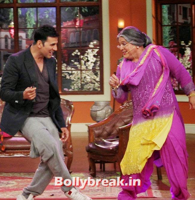 Akshay Kumar and Ali Asgar, Akshay Kumar on Comedy nights with Kapil for Holiday movie promotion