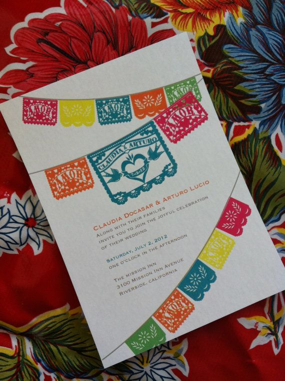 Don't you just LOVE all the colors in a fiesta wedding? If you're planning one, check out this Fiesta Wedding Inspiration Board at www.abrideonabudget.com.