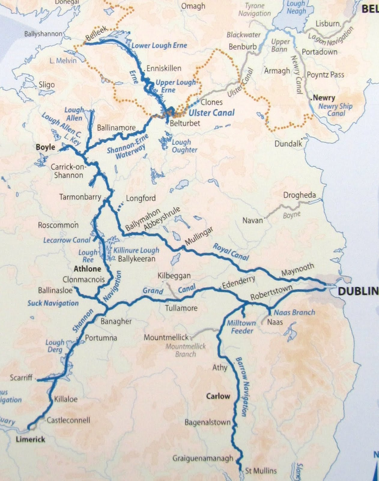 Map Of Shannon Ireland.Nb The Puzzler Map Of Ireland S Waterways April August