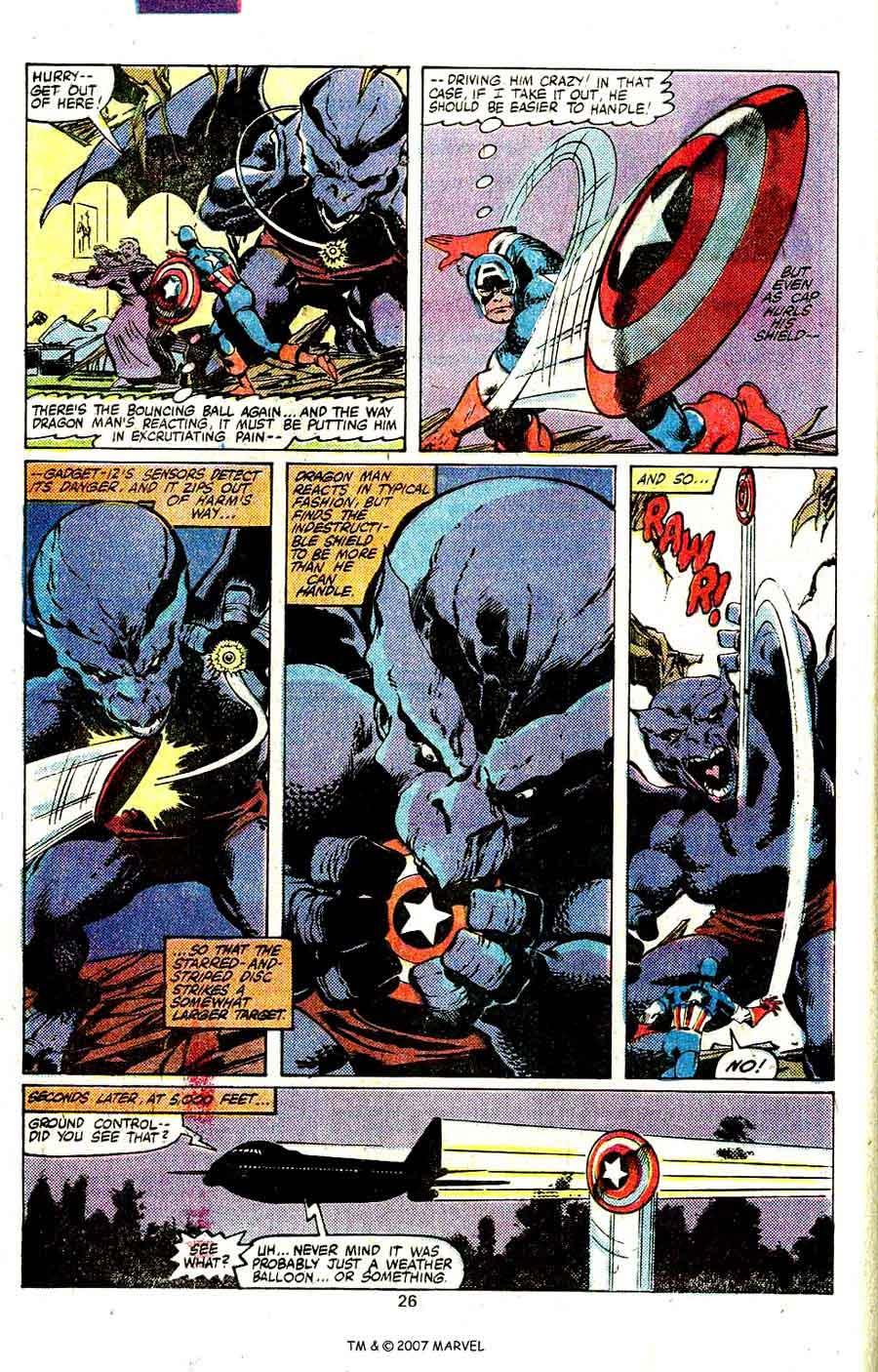 Captain America #248 marvel 1980s bronze age comic book page art by John Byrne