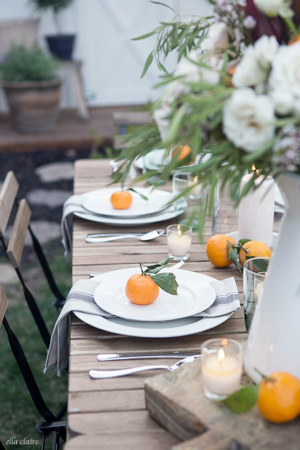 Inspiración para decorar una sencilla mesa de verano
