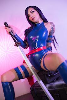 katyuska moonfox sexy topless psylock cosplay 01