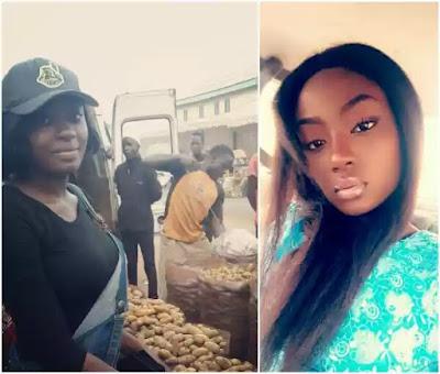 Meet beautiful Nigerian graduate who sells Irish potatoes for a living in Plateau (photos)