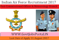 Indian Air Force Recruitment 2017– Commissioned Officer in NCC Special Entry & Meteorology Branch