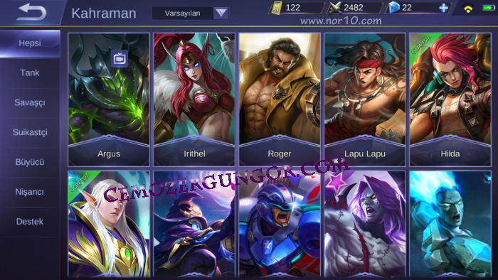 Mobile Legends Bang Bang Kahramanlar