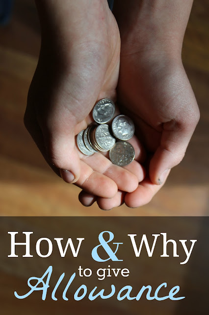 How and Why I Give My Kids Allowance {Part 2}- Tips and tricks to teach your kids how to give, spend, and save money wisely.
